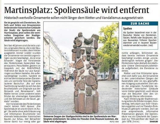 Verein für Baukultur und Stadtgestaltung Kaiserslautern e. V. - Spoliensäule 1