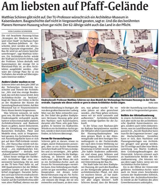 Verein für Baukultur und Stadtgestaltung Kaiserslautern e. V. - Architekturmuseum