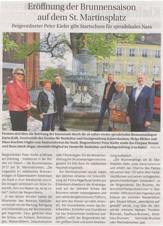 Verein für Baukultur und Stadtgestaltung Kaiserslautern e. V. - Brunnen