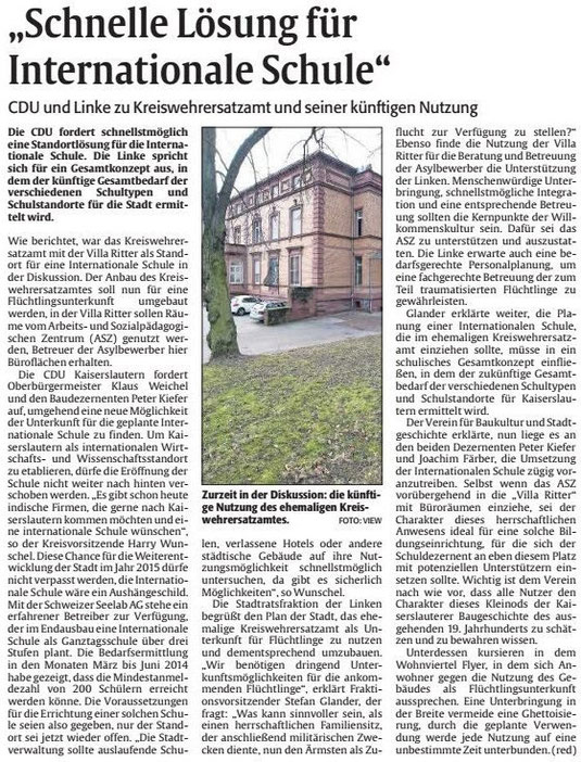 Verein für Baukultur und Stadtgestaltung Kaiserslautern e. V. - Kreiswehrersatzamt