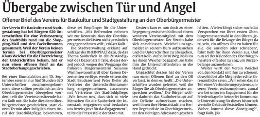 Verein für Baukultur und Stadtverwaltung Kaiserslautern e. V. - Verschmutzung