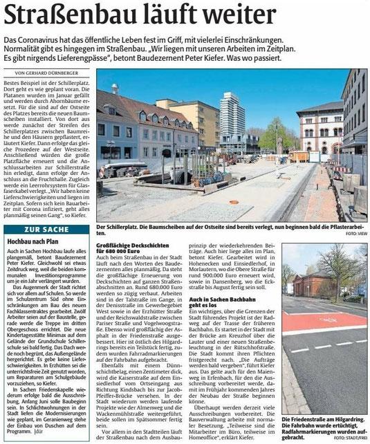 Verein für Baukultur und Stadtgestaltung Kaiserslautern e. V. - Straßenbau
