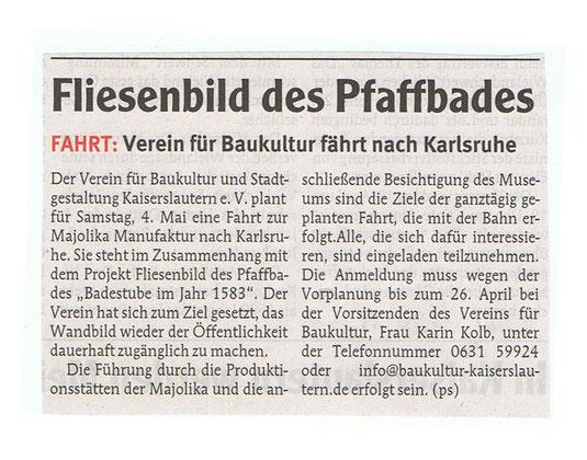 Verein für Baukultur und Stadtgestaltung Kaiserslautern e. V. - Wobla Majolika
