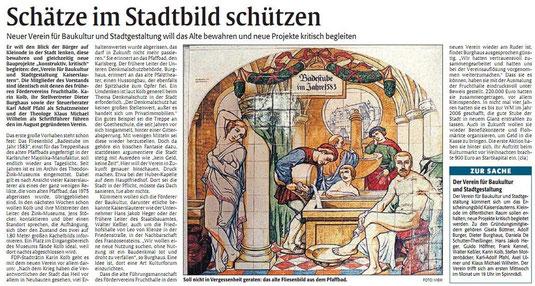 Verein für Baukultur und Stadtgestaltung Kaiserslautern e. V. - Rheinpfalz Vorstellung