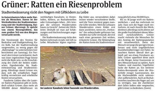 Verein für Baukultur und Stadtgestaltung Kaiserslautern e.V. - Ratten