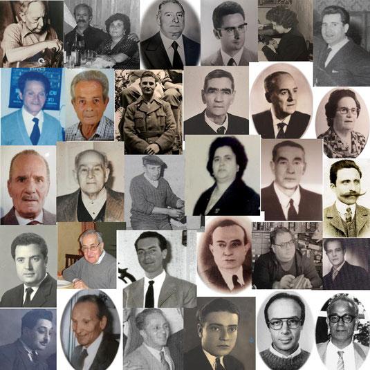 """Alcuni dei personaggi del 5° volume de """"Le Botteghe di una volta"""" a Corigliano"""