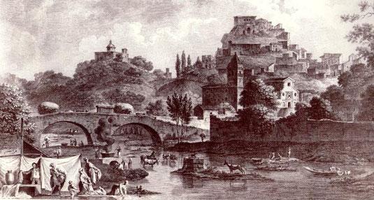 Vue Gènerale de la petite ville de Corigliano situèe dans la Calabre citèrieure près du Lieu où ètait autrefois la Ville de Sybaris