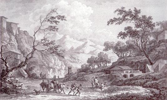 Vue prise sur les hauteurs de Corigliano au sortir de la Ville, du cote de la plaine de Sybaris