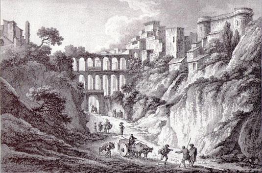 Vue de l'Acqueduc de Corigliano en Calabre