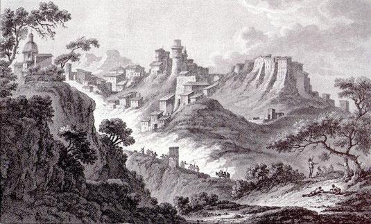 Vue de Corigliano prise du milieu de la Montagne