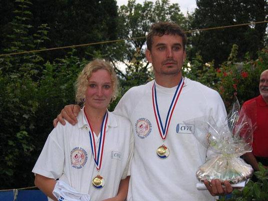 Justine Martin et son père Stéphane.
