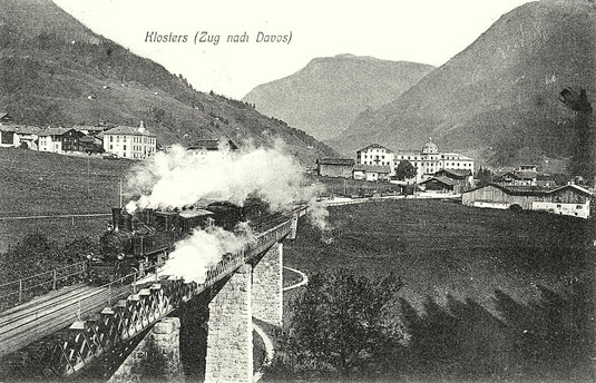 A. Büchi Klosters, gestempelt 19. August 1908