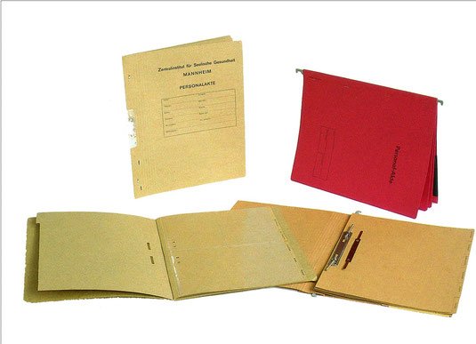 Personalakten mit Register Trennblätter für Register