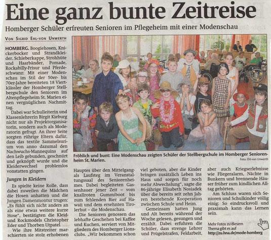 Bericht: HNA, 6.10.2014 www.hna.de .