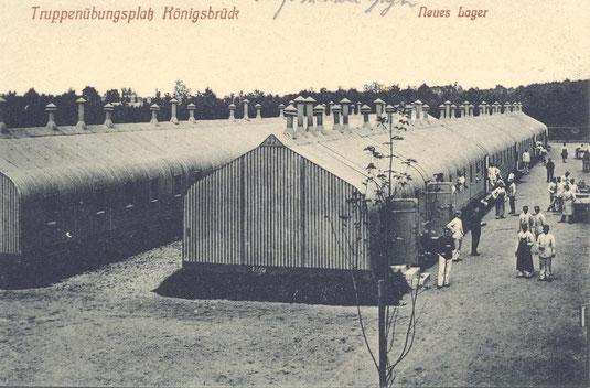 Bild: Teichler Seeligstadt Sachsen Wellblechbaracke Königsbrück 1915