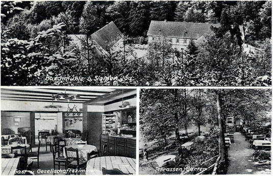 Bild:Teichler Seeligstadt Sachsen Postkarte von der Buschmühle