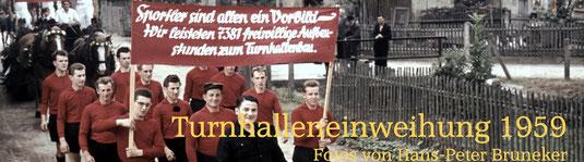 Bild: Teichler Seeligstadt Sachsen Turnhalleneinweihung 1959