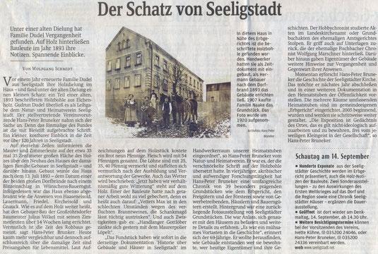 Bild: Teichler Seeligstadt Sachsen Schatz Bruneker