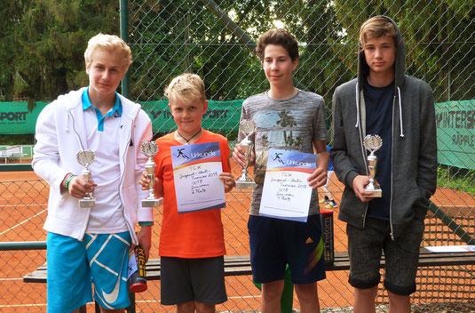 Florian, Lasse, Nils und Jannis