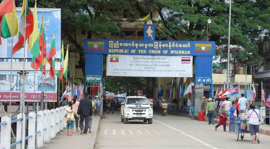 Frontière du Myanmar