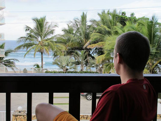 -His first oceanview 'priceless'.