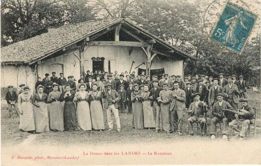 rondeau dans la grande Lande (photo Félix Arnaudin)