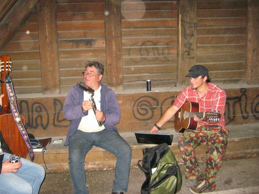 Michael und Hannes beim Soundcheck