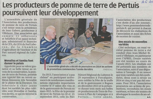 La Provence 25 janvier 2014