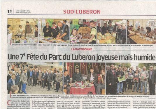 Vaucluse agricole 1 octobre 2012