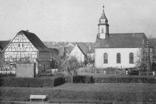 Kirche mit Rathausanlage (1950)