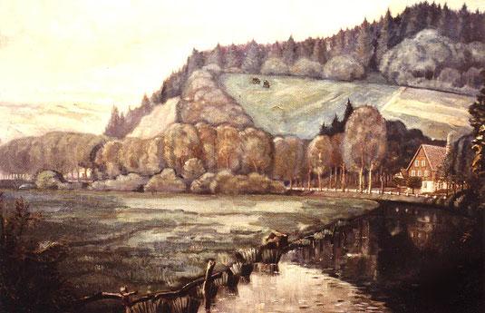Von einem Maler ließen die Nachkommen Bauerdicks ein Bild malen, dessen Vorlage das einzige Foto ist, welches von hier besteht.