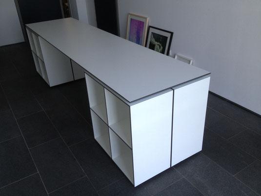 Schreibtisch aus 10 mm CDF Platte