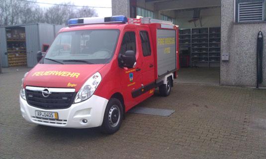 Das erste Foto des neuen Einsatzfahrzeugs bei Ziegler in Rendsburg.