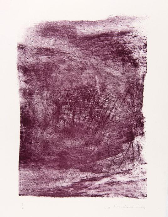 Lithographie sur papier, 38x65 cm