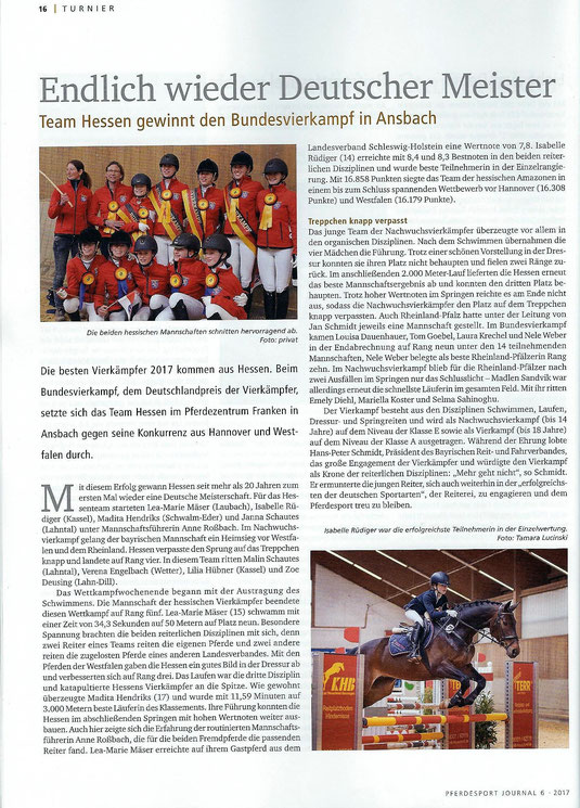 Pferdesportjournal 06/2017