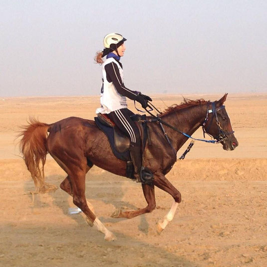 Anna-Lena beim Training in Abu Dhabi