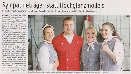 """Artikel aus der """"Allgemeinen Fleischerzeitung"""" vom 30. Juli 2014."""