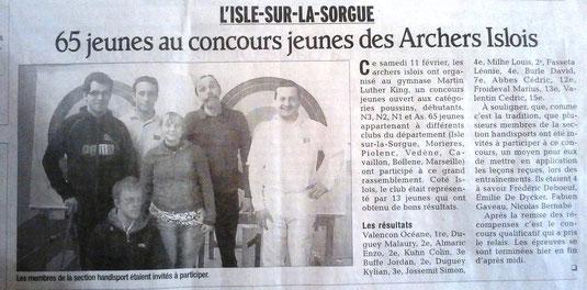 Vaucluse matin, le 12/02/2012