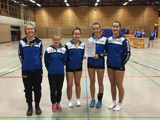 U18 weiblich bei der Württembergischen Meisterschaft HF 16/17 in Gärtringen