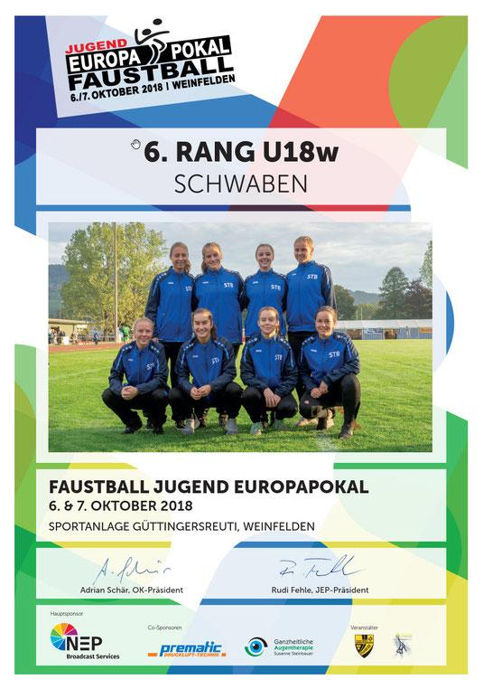 STB-Team U18 weiblich beim Jugend Europapokal 2018 in Weinfelden CH