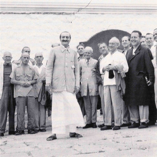 1954 - Upper Meherabad, India. Frank is 2nd from the right of the group.