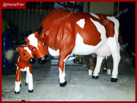 ساخت مجسمه گاو و گوساله شرکت ماکت سازی تهران