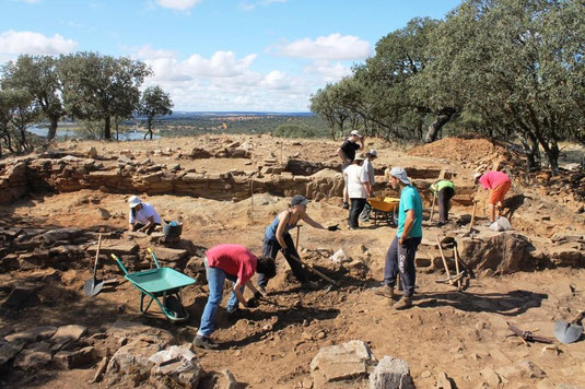 Archaeological excavation El Castillon 2011