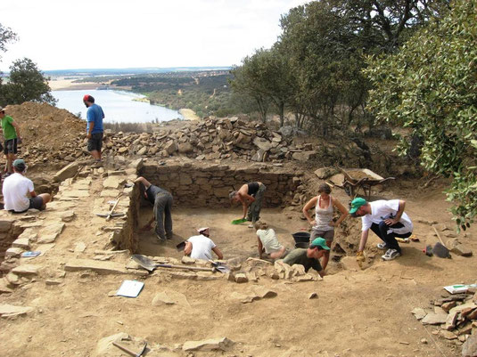 Archaeological excavation El Castillón - 2009