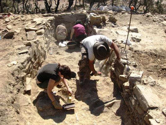 Proceso de excavación de la Estancia 01