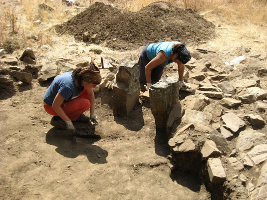 Archaeological work in metallurgical area