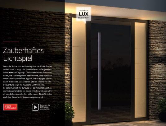 Beispiele Ultimum Pure Haustüren aus Alu und Holz