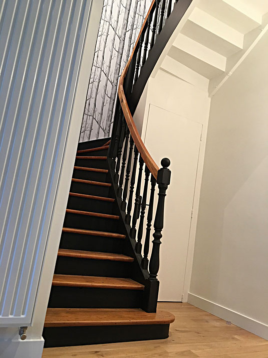 Renovation marches escalier parquet Nantes Angers Cholet
