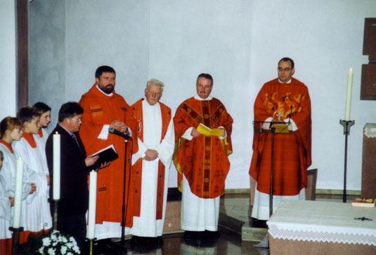 Mit Abt Dominikus. © Bild: Dorothy Gmyrek