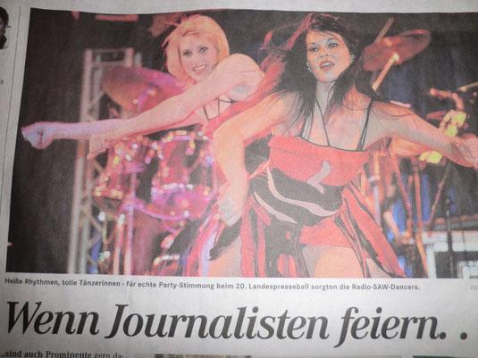 Die radio SAW Dancer in der Mitteldeutschen Zeitung am 06.11.2011